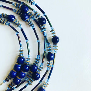 Lapis Body Jewelry Waist 34""