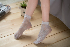 Ankle High Stockings D-2045-GRAY