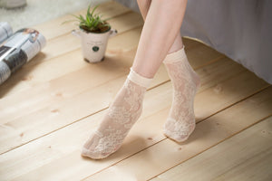 Ankle High Stockings D-2045-Nude