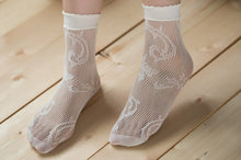 Load image into Gallery viewer, Ankle High Stockings D-2045-White