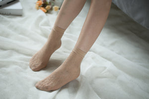 Ankle High Stockings D-2054-Nude