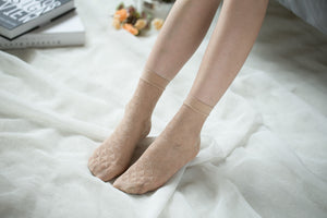 Ankle High Stockings D-2056-Nude