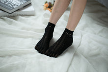 Load image into Gallery viewer, Ankle High Stockings D-2517-Black