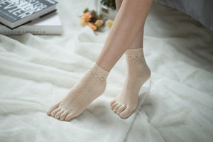 Ankle High Stockings D-2517-Nude