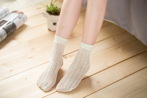 Ankle High Stockings D-2518-Mint-Green