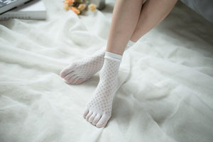 Ankle High Stockings D-2520-White