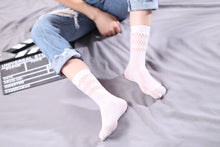 Load image into Gallery viewer, Ankle High Stockings D-2525-White