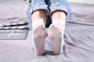 Ankle High Stockings D-2525-White