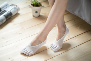 Low Cut Stockings W-1513-White