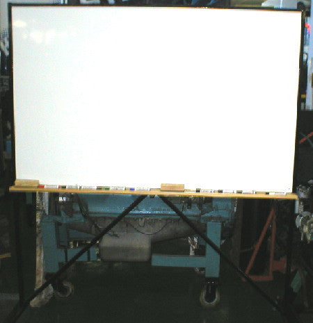 Double Sided White Board & Chalk Rail - Mobile