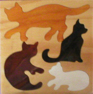 Cats 190*190*6Mm - Wooden