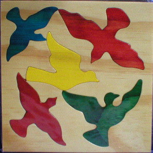 Mixed Birds 190*190*6Mm - Wooden