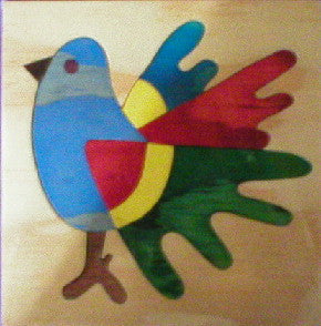 Bird 190*190*6Mm - Wooden