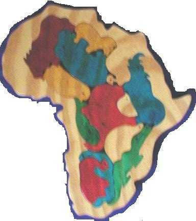 Africa Coloured 220*235*6Mm - Wooden