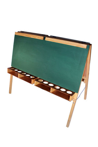 Paint Easel 12 Pot 4 Pupil - Folds - Chalk Board