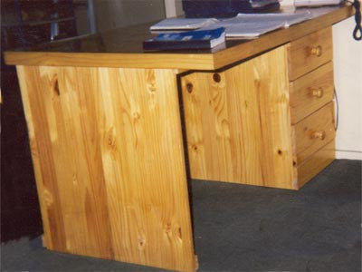 Desk Wooden 3 Drawer - Large