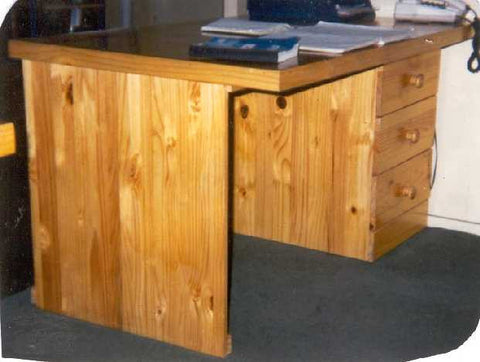 Desk Wooden 3 Drawer - Small