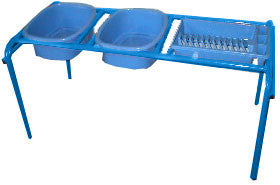 Baker Baker Wash Up Unit - 2 Bowl/Dryer Tray - Blu
