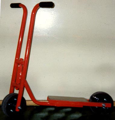 Scooter 2 Wheel-Baby-Deluxe-H/D Wheels - Red