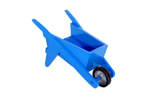 Wheel Barrow - Wooden - Blue