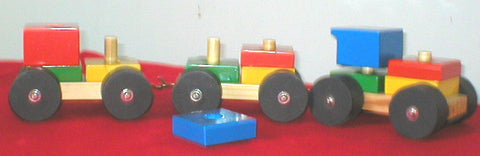Train Set - 3 Units - Log Wheels