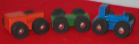 Mini Train Set - Wooden - 3 Unit