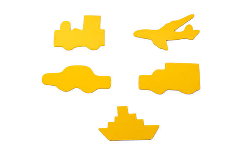 Transport Set: Aeroplane, Train, Ship, Car, Truck
