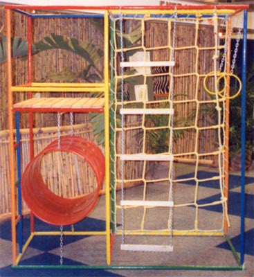Jnr Climbing Deluxe: Swing Rings, Rope Ladder, Mon