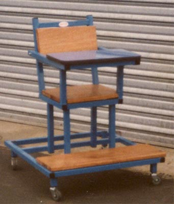 Feeding Chair - Low - Mobile - H/Duty