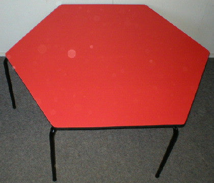 Hexagonal Table - Formica - Red