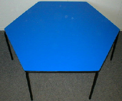 Hexagonal Table - Formica - Blue
