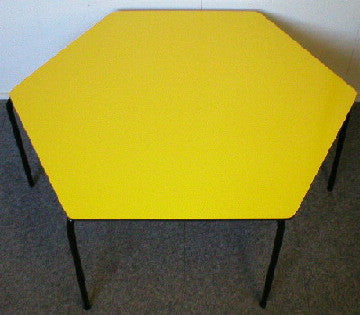 Hexagonal Table - Formica - Yellow