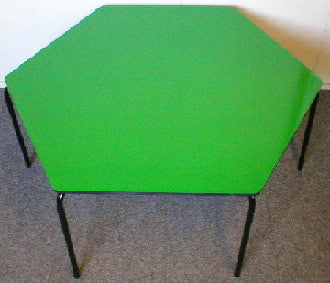 Hexagonal Table - Formica - Green