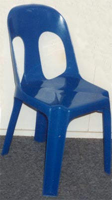 Fully Moulded Plastic Chair - Blue
