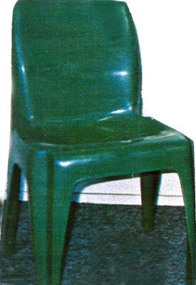 Fully Moulded Plastic Chair - H/Duty - Green