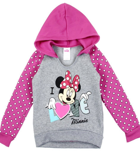 MINNIE MOUSE GIRLS TODDLER PULLOVER HOODIE