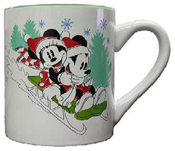 Mickey and Minnie Vintage Sled 14oz ceramic Mug