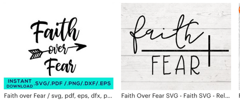 faith over fear designs