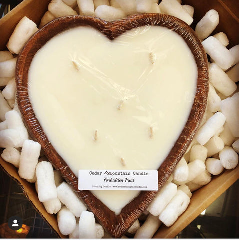 Heart Dough Bowl Soy Candle from Cedar Mountain Candle