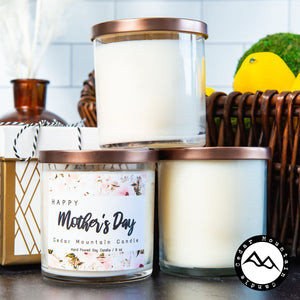"""""""Happy Mother's Day"""" Alternative Label - Mother's Day Glass Candle"""