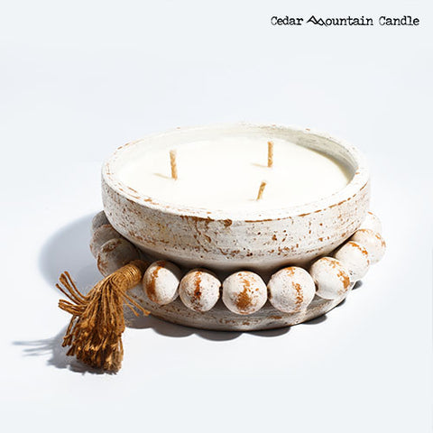 Amazon Falls - 3 Wick Handmade Pottery Soy Candle