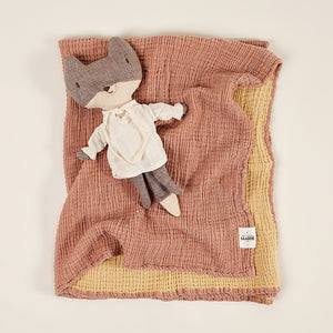 Enes Crinkle Baby Blanket - Tobacco/Honey