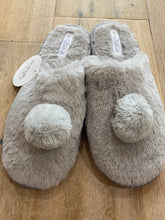 Load image into Gallery viewer, Slippers Grey Pompom
