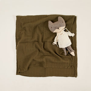 Light Blanket Baby Muslin Olive