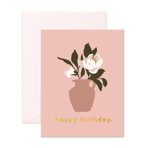 Birthday Magnolias Greeting Card