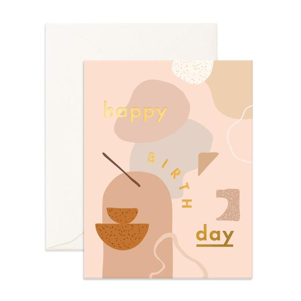 Birthday Clay Composition Greeting Card