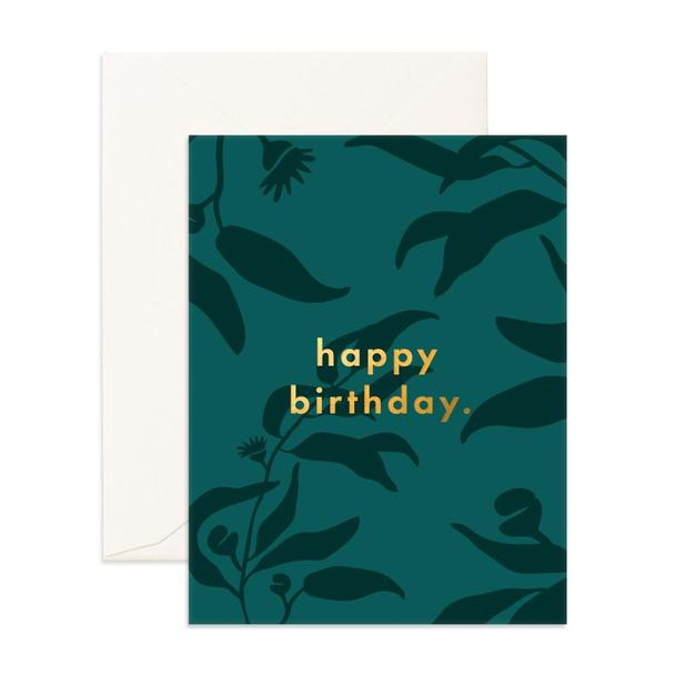 Happy Birthday Eucalypt Greeting Card