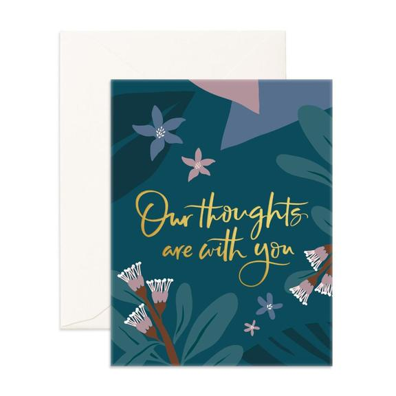 Our Thoughts Arcadia Greeting Card