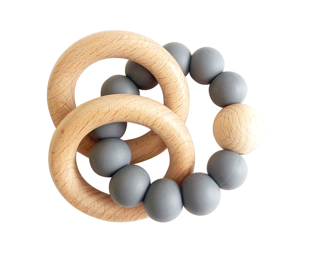 Beechwood Teether Ring Storm Grey