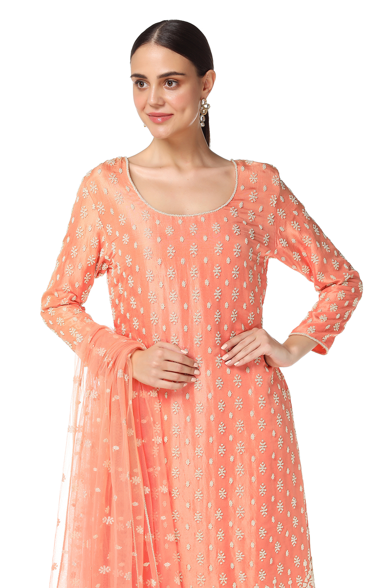 Ayat Kurta With Sharara Set